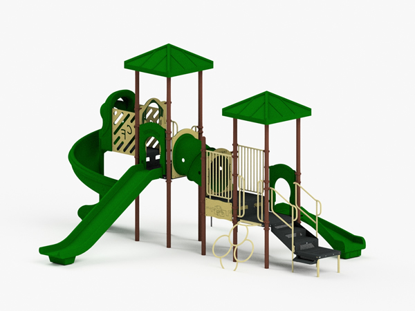 Quick Ship Playground Equipment - Structure 4